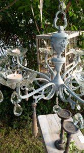 lampadario di recupero con lumini by lacasadi Lalla